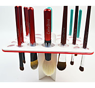 New White Black Acrylic Rubber Makeup Eyeshadow Power Drying Brush Rack Organizer Holder Makeup Brushes Stand Storage