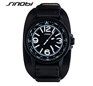 SINOBI Men's Sport Watch Wrist watch Water Resistant / Water Proof Sport Watch Quartz Leather Band Black