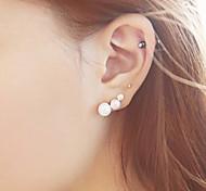 Women's Fashion Cute Pearl Stud Earrings