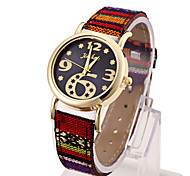 Ladies' Watch Large Digital Dial Retro PU With Quartz Watch