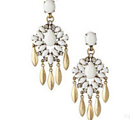 New Arrival Fashional Retro Rhinestone Pearl Water Drop Earrings