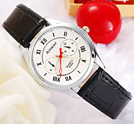 Men's Watch Fashion Red Needle Smiling Face Type Belt Watch
