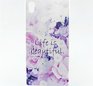 Life is Beautiful Pattern TPU Soft Case for Sony Xperia Z5