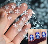 1pcs Beautiful White Snowflake Nail Transfer Foil Sticker Paper