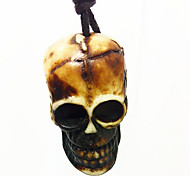Men Fashion Imitation Ceramic Skeleton of Jewelry Spike Lovers Necklace