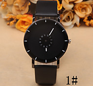 Ms. Common Male Creative Personality Double Rotating Seconds Disc Casual Leather Watch Cool Watches Unique Watches