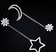 New Arrival Fashional Rhinestone Star Moon Earrings