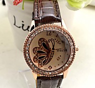 Leisure Style Business Water Leather women watch clock butterfly