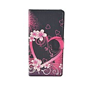 Love heart Pattern Flip Leather Case For iPhone 5/5S Cover Bags