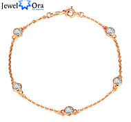 Fashion Accessories 925 Sterling Silver Rose Gold Plated Bracelets & Bangles For Women&Lady