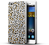 Leopard Print 3D Printing Carving Hard Back Case Ultrathin Metal Bumper for Huawei P8 Case