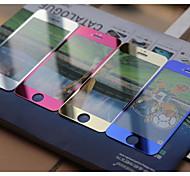 2-in-1-Vorder-und Rückseite aus gehärtetem Glas Farben Displayschutzfolie für iPhone 5 / 5s / 5c- (verschiedene Farben)