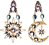New Arrival Fashional Rhinestone Sun Moon Earrings