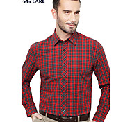 JamesEarl Men's Shirt Collar Long Sleeve Shirt & Blouse Red - MB1XC000201
