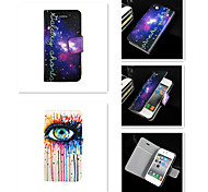 Elegant Design Star Intravenous Drip PU Leather Full Body Case for iPhone 4/4S