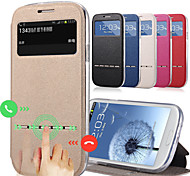 Luxury PU Leather + Tpu Smart Sliding Answer View Window Flip Full Body Case for Samsung Galaxy J5 J7 With Kickstand