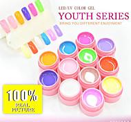 30611A Canni  Factory 5ml Gar 12 Pure Color Gel Makeup Sets Color Gel Nail Art UV&LED Gel Nail Polish