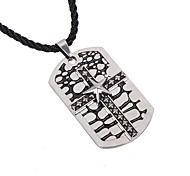The New Fashion Pentagram  Cross Tag Necklace