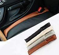 ZIQIAO PU Leather Vehicle Seat Slot Plug Leak-proof Protective Case (2PCS)