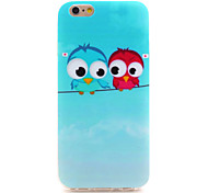 Owl Series Cute Couple Owls IMD Printed TPU Soft Back Cover for iPhone 6/6S