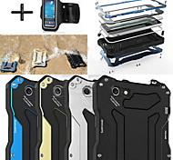 "R-JUST Gundam 100% Waterproof Metal Aluminum Gorilla Glass Case +Sports armband for iPhone 6 4.7"""