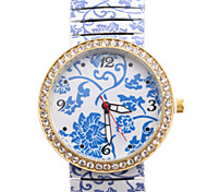 Ladies' Watch The New Wind China Printing Porcelain Alloy Diamond Watch