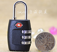 Luggage LockForLuggage Accessory Stainless Steel 2.5 x 6.1 x 2 cm
