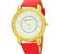Women's Casual Design PU Band Quartz Wristwatch