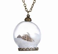 A New Fashion Creative Beach Glass Necklace