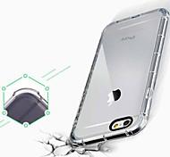 iphone 7 além de ar queda pacote de alça de silicone transparente prova agradável com caso de volta para iphone6 mais / 6s mais