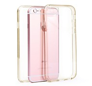 Acase transparent TPU front and rear case anti throw crash resistant for iphone6s/iphone6