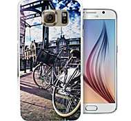 Street Bike Pattern PC Back Cover Case for Samsung Galaxy S6/S6 Edge