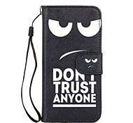 The New Black Eyes Pattern Lanyard Card Holder Leather for iPhone 6/6S