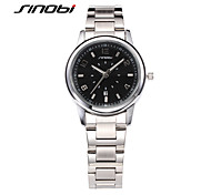 SINOBI® Female Fashion Watches Black Surface Calendar Steel Band Waterproof Digits Women Silver Quartz Wristwatches Reloj Cool Watches Unique Watches