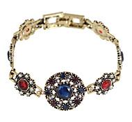 Colorful Rhinestone Wrap Stone Bracelet