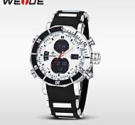 Montre de sports weide® alarme montre numérique de quartz militaire imperméable chronomètre à double fuseaux horaires