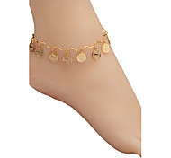 Popular Twelve Constellations 18K Stamp Gold Plated Fashion Engagement Anklet for Women Good Gift A60002