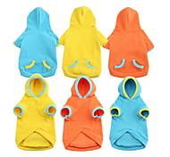 Dog Hoodies - XS / S / M / L / XL - Spring/Fall - Blue / Yellow / Orange - Waterproof / Fashion - Cotton