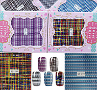 New Design Grid Pattern Decal Nail Art Henna Stickers Makeup Tool Water sticker Nail Art Decals Water Transfer Sticker