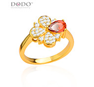 Ruby Jewelry Ring Fashion Jewelry For Women Trendy 18K Gold/Platinum Plated Red Cubic Zirconia Ring R70095