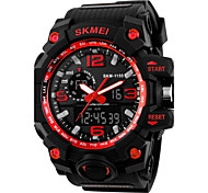 Men's Fashion Sports Analog-Digital Double Time Rubber Band Waterproof Watch Cool Watch Unique Watch