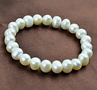 Ms. White Pearl Stretch Bracelet