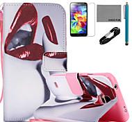 Para Soporte de Coche / Cartera / con Soporte / Flip / Diseños Funda Cuerpo Entero Funda Chica Sexy Dura Cuero Sintético SamsungS6 edge
