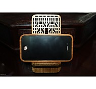 Window Grille(Double Xi Shape)Red Wooden Phone Holder