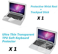 "Ultra Thin TPU Keyboard Cover + Metal Rest Protective Film and Touch Panel Membrane for 11.6""/13.3"" MacBook Air"