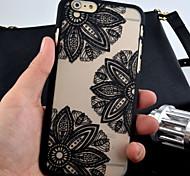 mate dibujo grabado de la caja del teléfono de la PC material de impresión tres flores para el iphone 6 más / 6s más (colores surtidos)