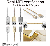 OPSO sc16apple mfi gecertificeerde USB-kabel 0,15 m voor iPhone 6 / 6s, 6 / 6s plus, iphone 5 / 5s / 5c, ipad data laadkabel