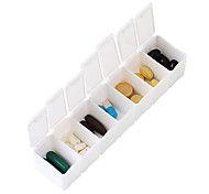 "Travel Pill Box/CaseForTravel Accessories for Emergency Plastic 5.2""*1""*1.26""(13.2cm*2.5cm*3.2cm)"