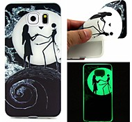 For Samsung Galaxy Case Glow in the Dark Case Back Cover Case Black & White TPU Samsung S7