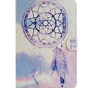 campanelli eolici viola illustrazione colorata o modello in pelle PU caso folio tablet custodia per ipad mini 3/2/1